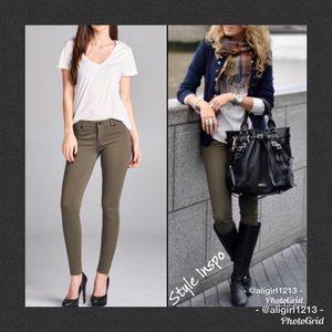 Pants - SALE - Olive Skinny Ponte Pant